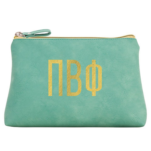Pi Beta Phi Leather Cosmetic Bag
