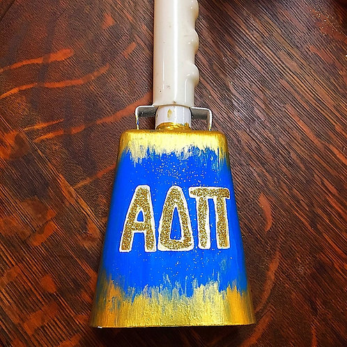 Alpha Delta Pi Abstract Glitter Cowbell