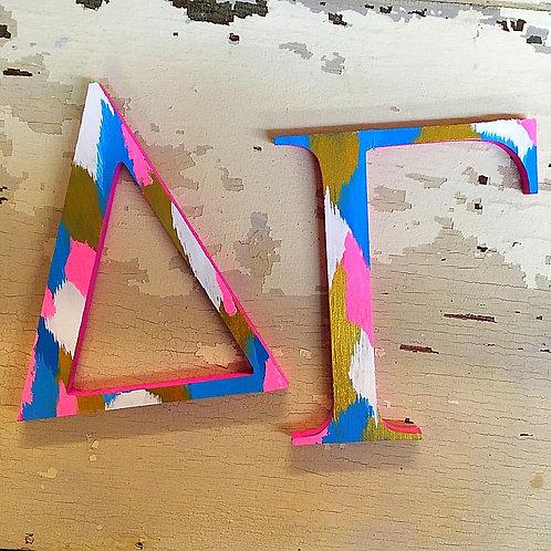 Delta Gamma Sorority Dye Cut Letters
