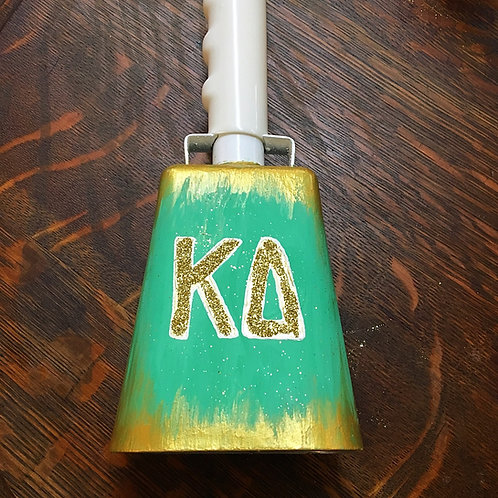 Kappa Delta Abstract Glitter Cowbell