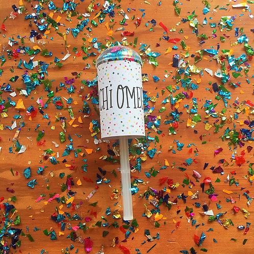 Chi Omega Confetti Poppers