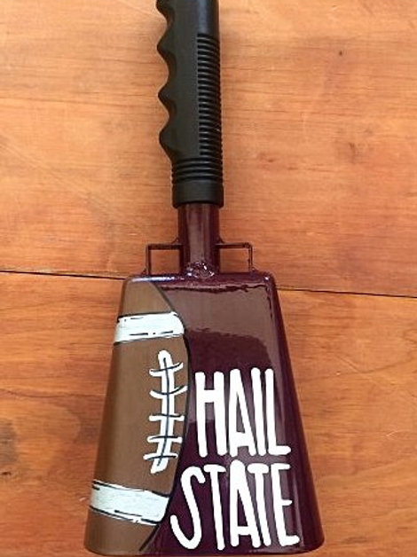 Hail State w/ Football Cowbell