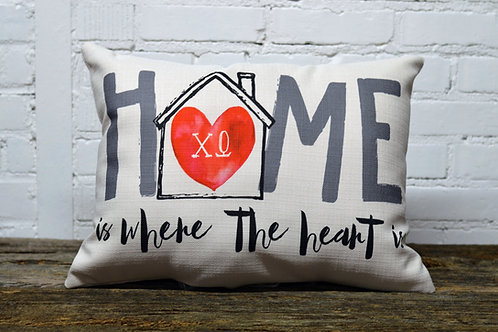 Chi Omega Heart Pillow