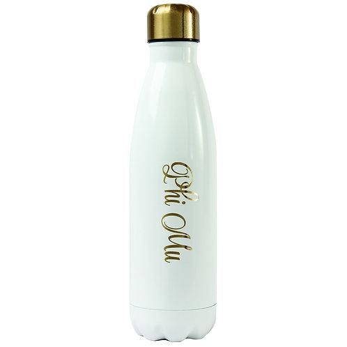 Phi Mu Gold & White Water Bottle