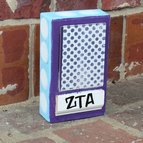 Zeta Tau Alpha Small Patterned Picture Frame