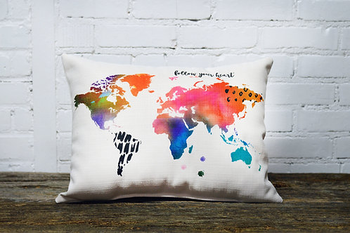 Boho Map Pillow