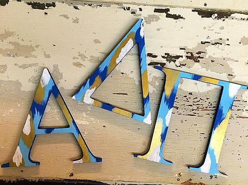 Alpha Delta Pi Sorority Dye Cut Letters