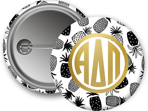 Alpha Delta Pi Gold Pineapple Pin Button