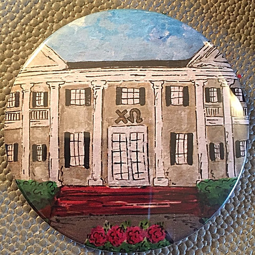 Chi Omega House Game Day Button