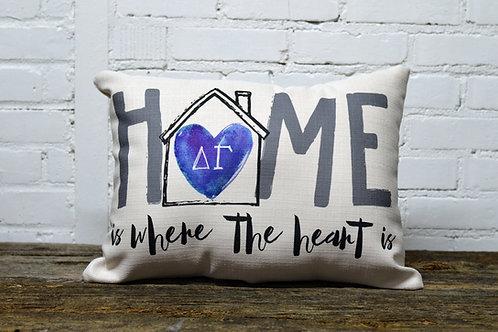 Delta Gamma Heart Pillow