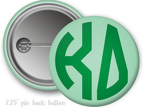 Kappa Delta Monogram Pin Button