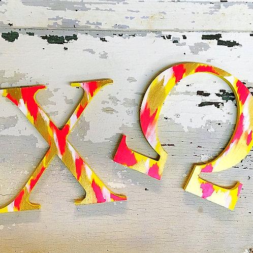 Chi Omega Sorority Dye Cut Letters