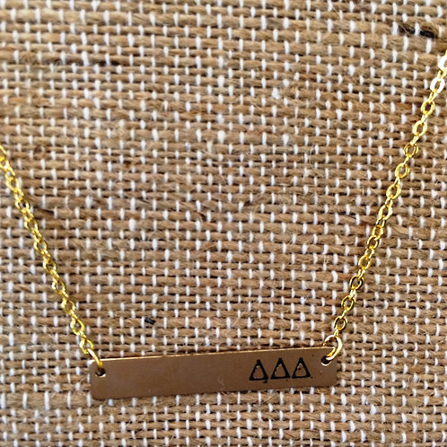 Tri Delta Bar Necklace