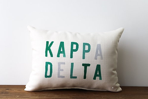 Kappa Delta Color Block Pillow