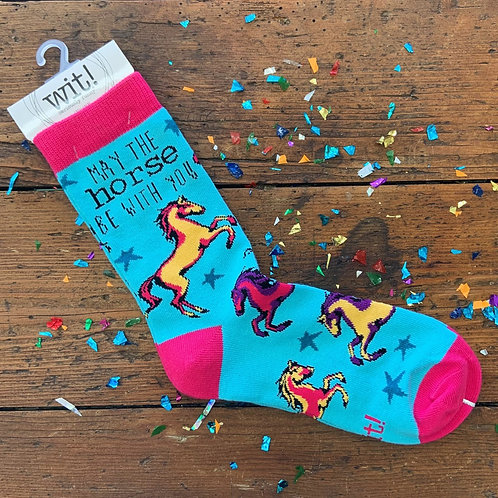 May The Horse Be With You Socks