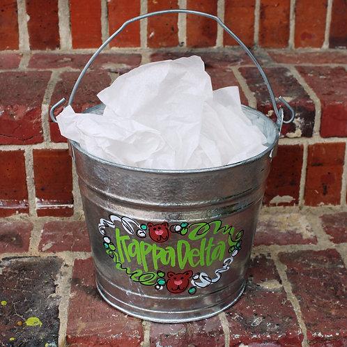 Kappa Delta Galvanized Bucket