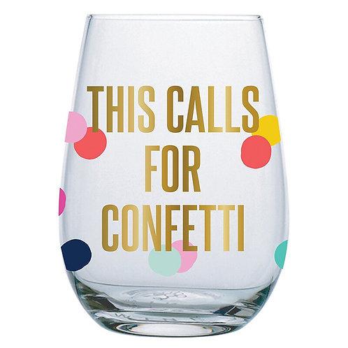 Confetti Wine Glass