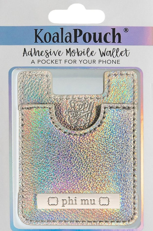 Phi Mu Iridescent Phone Pocket