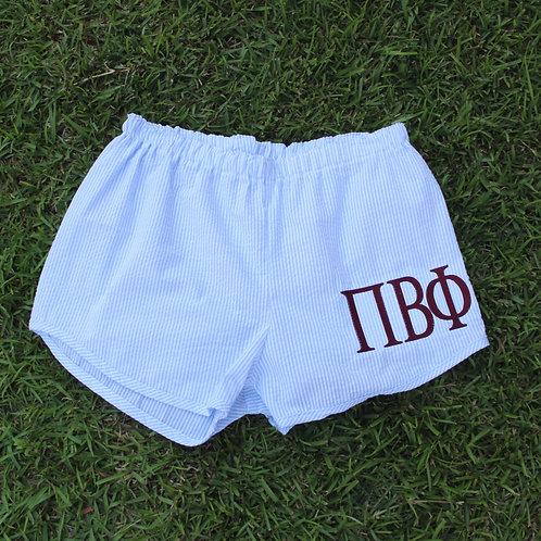 Pi Beta Phi Seer Sucker Shorts