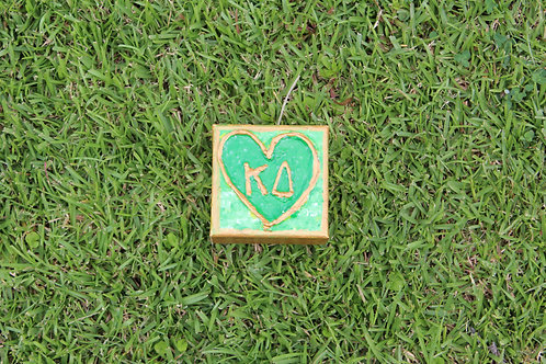 Kappa Delta Small Heart Canvas