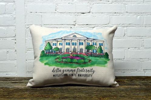 Delta Gamma House Sorority Pillow