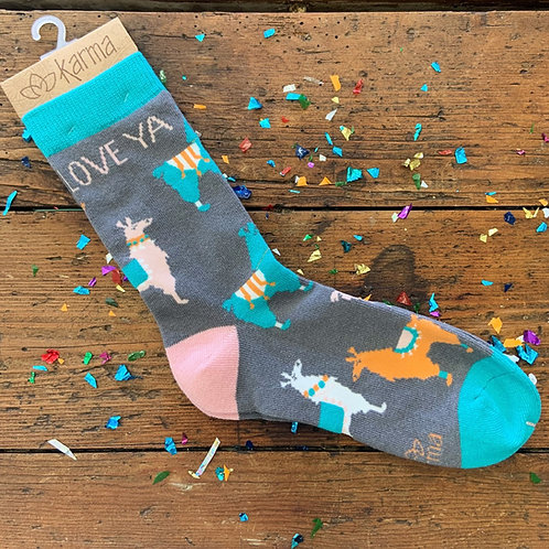 Love Ya Llama Socks
