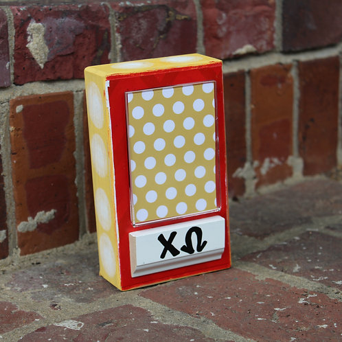 Chi Omega Small Patterned Frame