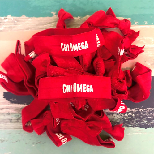 Chi Omega Hair Tie