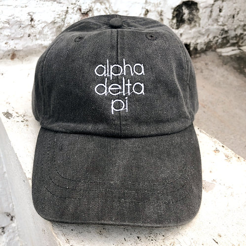 Alpha Delta Pi Grey Block Hat