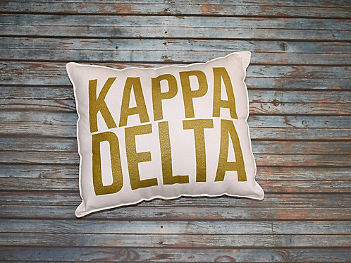 Kappa Delta Gold Shimmer Pillow