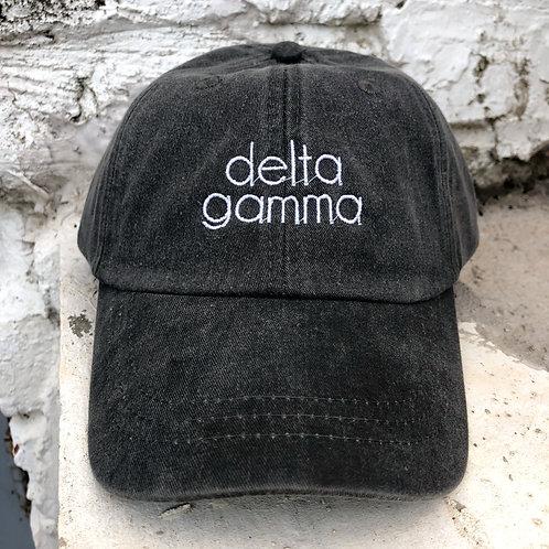 Delta Gamma Grey Block Hat