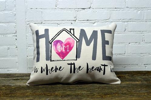 Phi Mu Heart Pillow