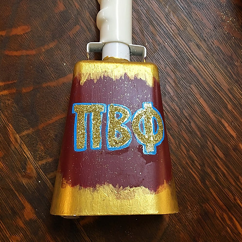 Pi Beta Phi Abstract Glitter Cowbell
