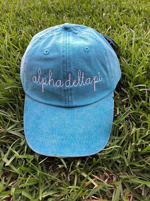 Alpha Delta Pi Sorority Script Hat
