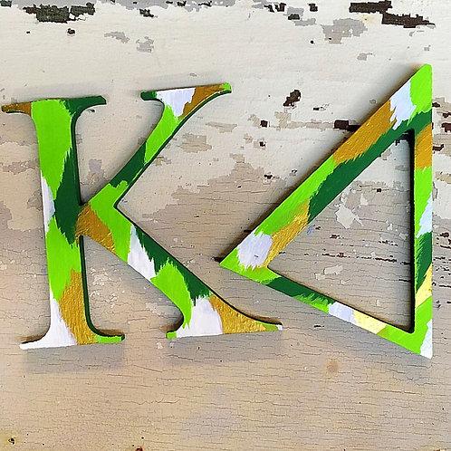 Kappa Delta Sorority Dye Cut Letters