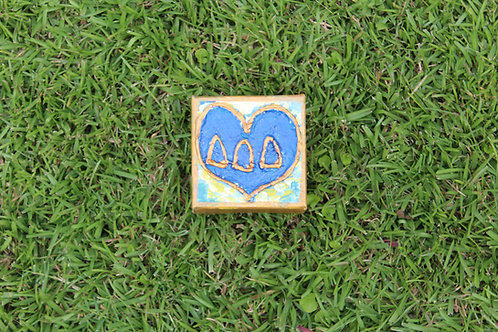 Tri Delta Small Heart Canvas