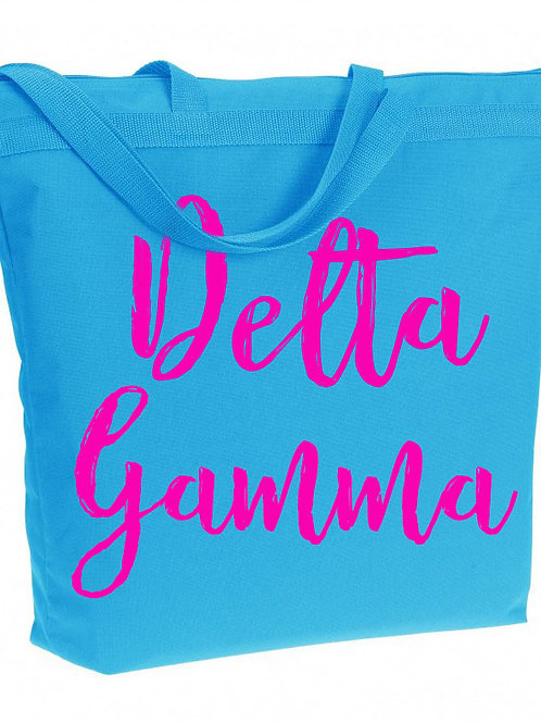 Delta Gamma Zippered Tote
