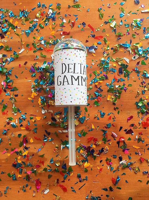 Delta Gamma Confetti Poppers