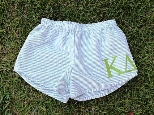 Kappa Delta Seer Sucker Shorts