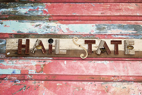 Hail State Wooden Sign