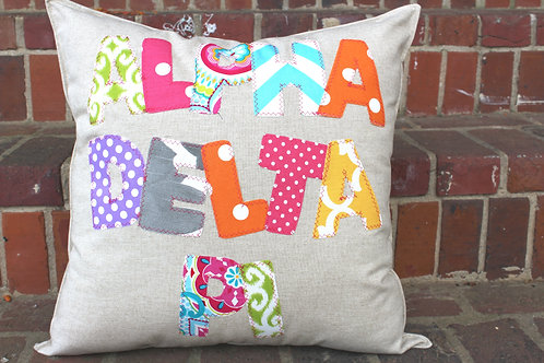 Alpha Delta Pi Large Applique Pillow