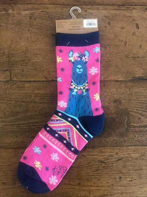 Llama Pink Socks