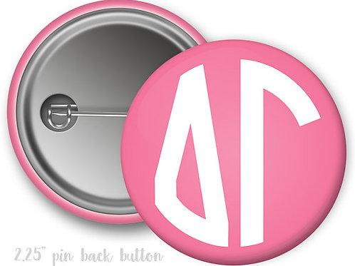 Delta Gamma Monogram Script Pin Button