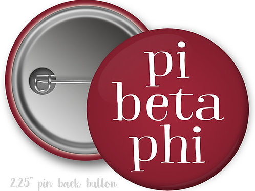 Pi Beta Phi Simple Script Pin Button
