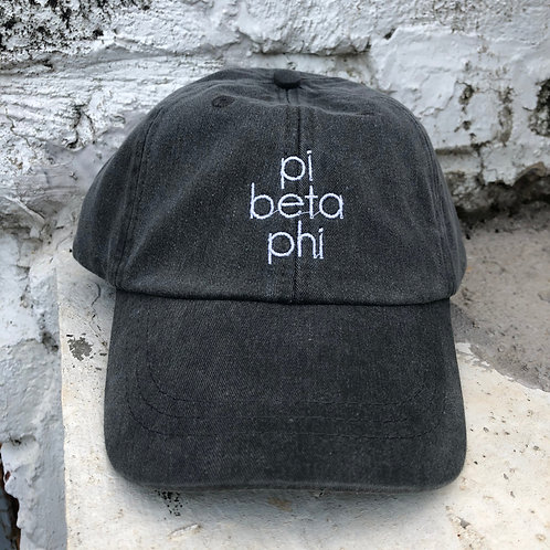 Pi Beta Phi Grey Block Hat