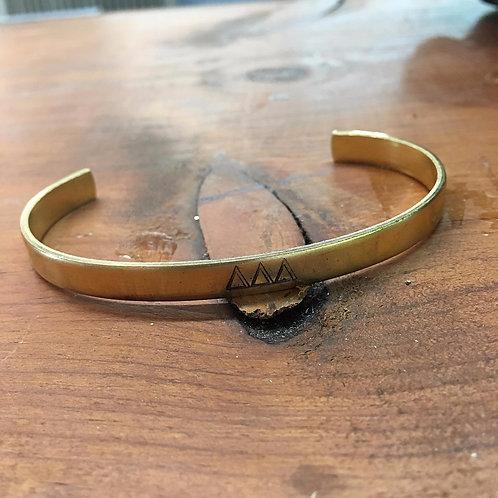 Tri Delta Gold Cuff Bracelet