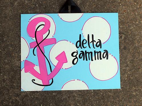 Delta Gamma Mascot Canvas