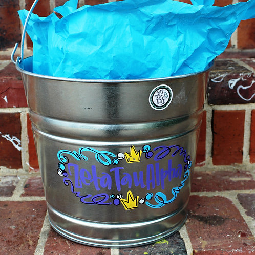 Zeta Tau Alpha Galvanized Bucket