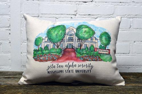 Zeta Tau Alpha Sorority House Pillow