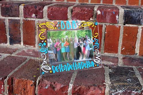 Tri Delta Acrylic Picture Frame